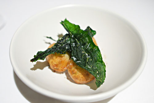 Garden beignets and crispy leaves