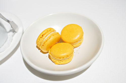 Apricot-Chamomile Macarons