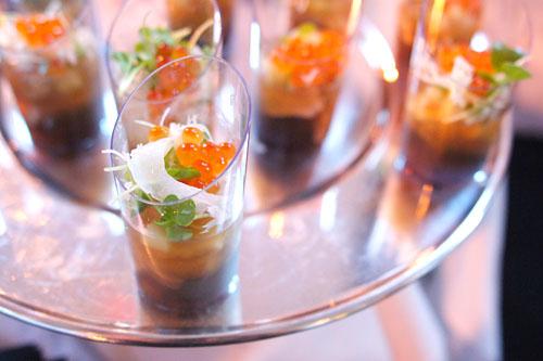 'Hure' of Foie Gras, Salmon Roe, Smoked Eel, Lobster Gelee, Vietnamese Shiso