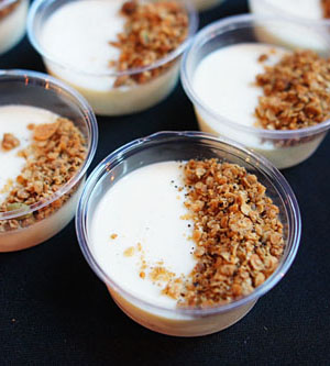 Vanilla Panna Cotta, Black Pepper Granola, Sorrel