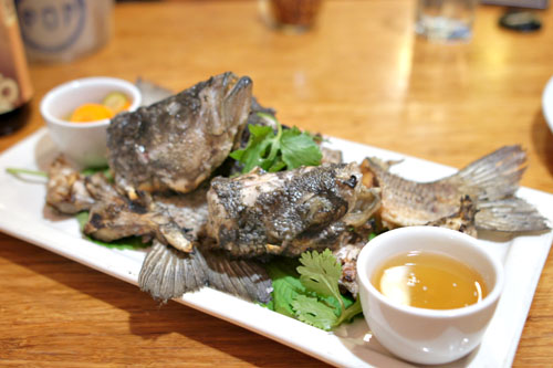 GRILLED FISH 'HEADS+TAILS' w/VIET FISH SAUCE