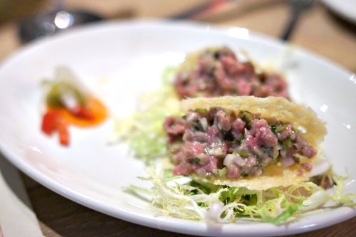 Steak Tartar Taco
