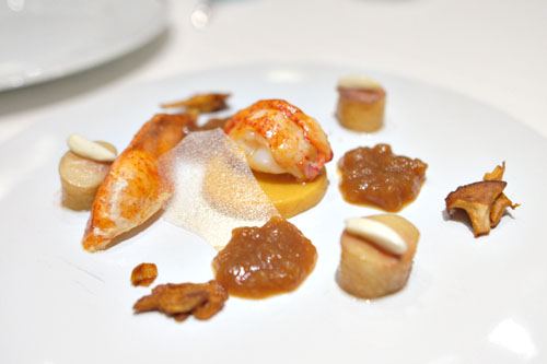 Lobster and Peaches, Chanterelles and Warm Gelée
