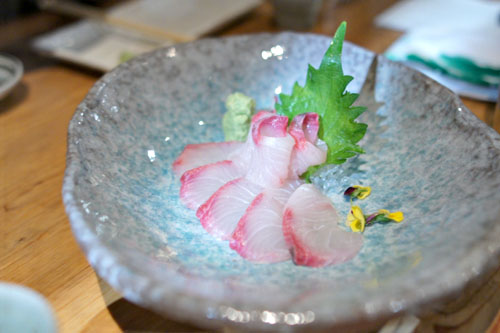 Kanpachi (Amberjack) Sashimi