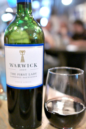 Warwick 'First Lady' Cabernet Sauvignon 2009, South Africa