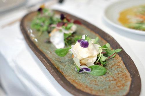 French Langoustine, Matsutake, Petite Green Salad