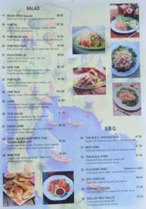 Renu Nakorn Menu: Salad / B.B.Q.