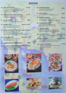 Renu Nakorn Menu: Seafood