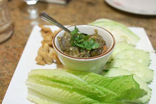 Nam-Prik-Noom (Green chili dip)