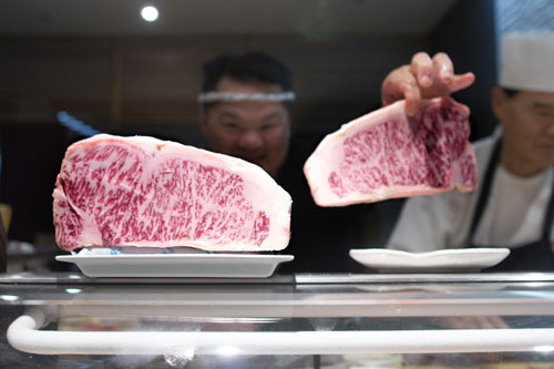 Showing Off Wagyu Beef