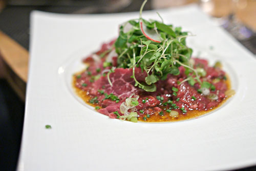 Kobe Steak Sashimi, Spicy Radishes