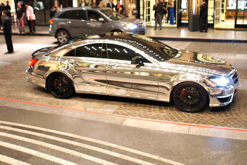 Chrome Mercedes CLS63