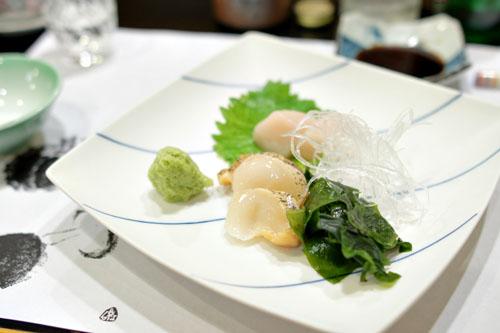 Tsubugai, Hotate No Sashimi
