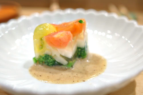 Vegetable-Mentaiko Aspic