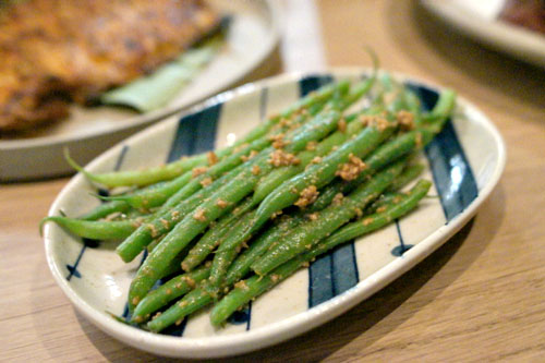haricot vert, sesame
