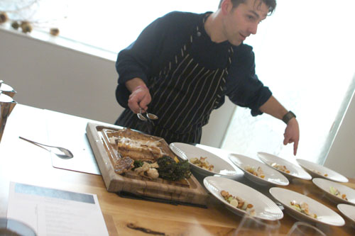 Plating Turbot Tableside