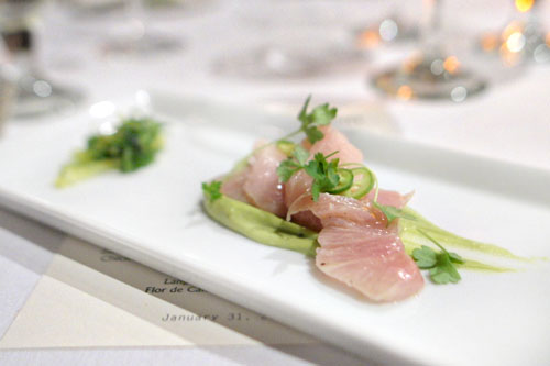 Hamachi, Yuzu, Serrano, Avocado