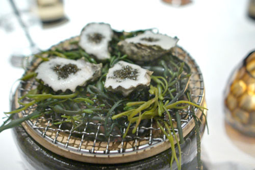 grilled kumamoto oyster