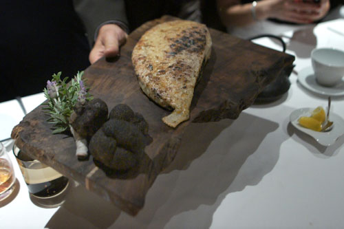 Presenting Turbot Tableside