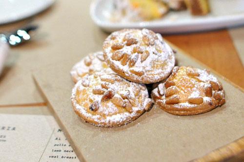 Vanilla pine nut biscotti