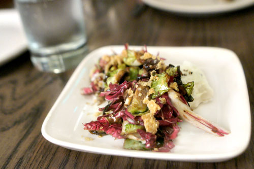 brussels sprouts, radicchio, burrata & breadcrumbs
