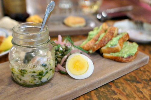 Smoked Trout, Boiled Egg, Pickled Onion, Capers, Avocado Toast