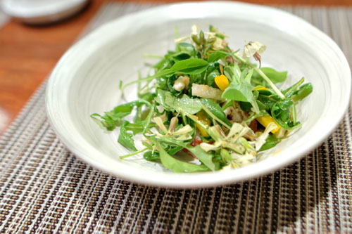 Arugula Salad with Lobster, Blue Cheese, Asian Pears & Beets