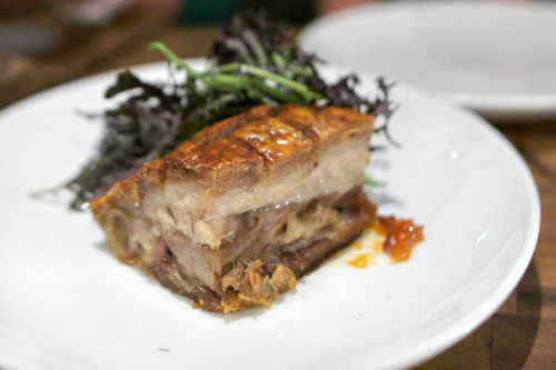 Crispy pork belly porcetto