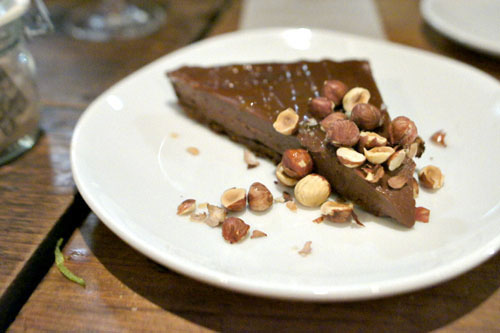 Bittersweet chocolate crostata