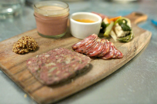 House-Made Charcuterie, Mustard, Pickles and Toasts