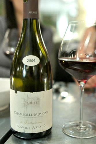 Chambolle Musigny, Domaine Arlaud '09