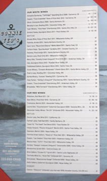 Connie & Ted's Wine List