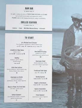 Connie & Ted's Menu