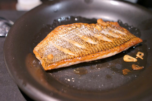 The power of lemon and olive oil, Atlantic black sea bass