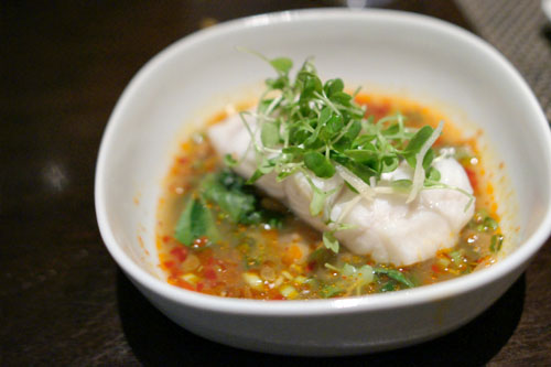 steamed cod