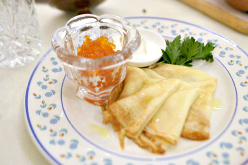 Blini With Red Caviar 50 grams