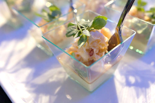 Dungeness Crab Salad with Curried Cauliflower and Micro Shiso