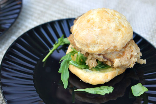 Fried Oyster Gougere Slider