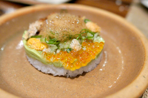 Sea Urchin & Crispy Pork Belly Cobb