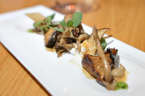 Mushroom, Pine, Pumpernickel