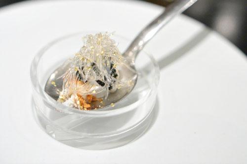faux shark's fin, dungeness crab, caviar, rousong