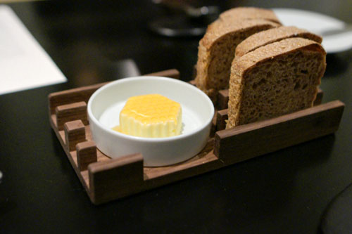 multigrain bread, ginseng honey butter