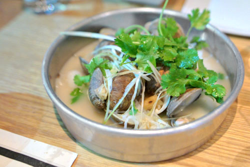 Clams in Abalone Broth