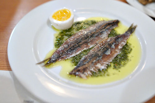 Anchovies in Green Sauce