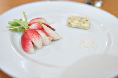 French Breakfast Radishes with Anchovy Butter