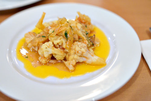 Cauliflower with Pine Nuts and Saffron