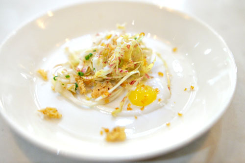 castel franco with mango, pear, gorgonzola bottarga