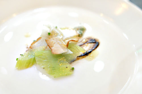 cardoon with anchovy, shaved fresh porcini, black garlic