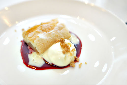 pear strudel with honey cassis