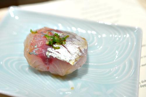 Japanese Aji (Spanish Mackerel) nigiri